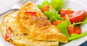 omelet con ensalada